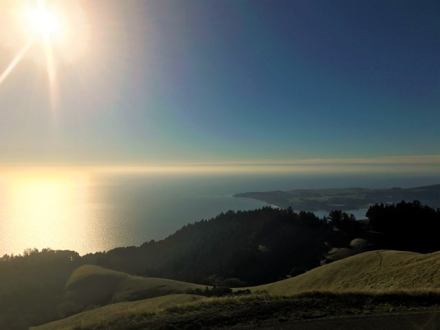< View from the top of Mt. Tam >