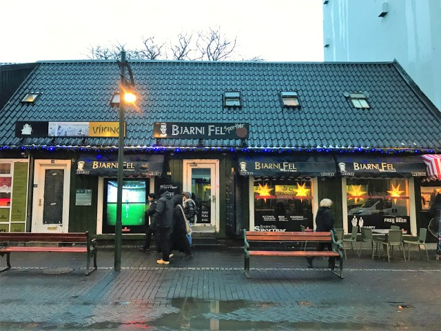 < Bjarni Fel Sports Bar is a good bar for traveling solo for the first time in Iceland >