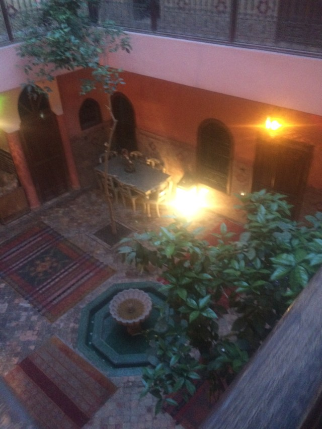 Stepping outside our comfort zone and staying at the Riad Lakhdar, typical accommodations in Marrakech