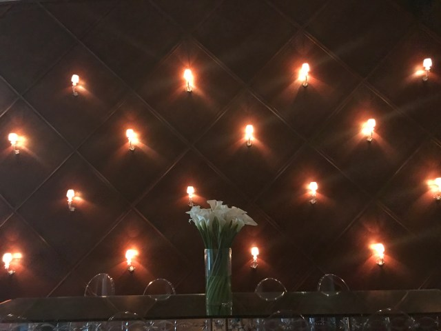 Candles on the wall of the Delano Hotel