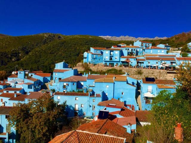 Blue village of Juzcar, Spain