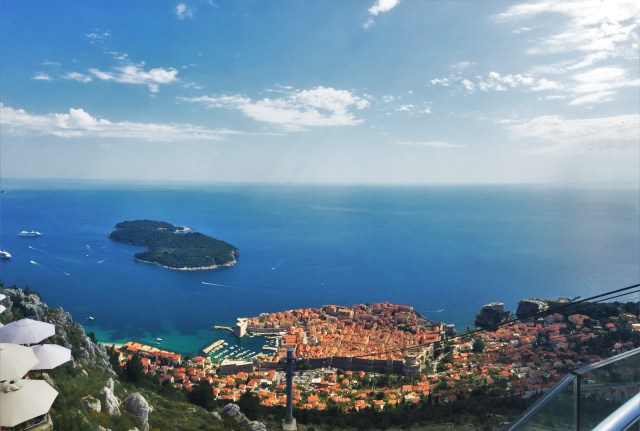50 shades of blue looking down over Dubrovnik, Croatia