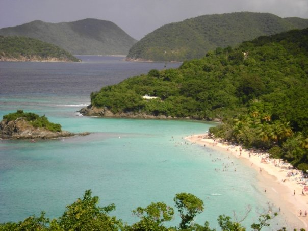 Many different shades of blue of St. John, US Virgin Islands