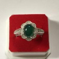 Ladies Green Aqeeq Ring | ShiaStore