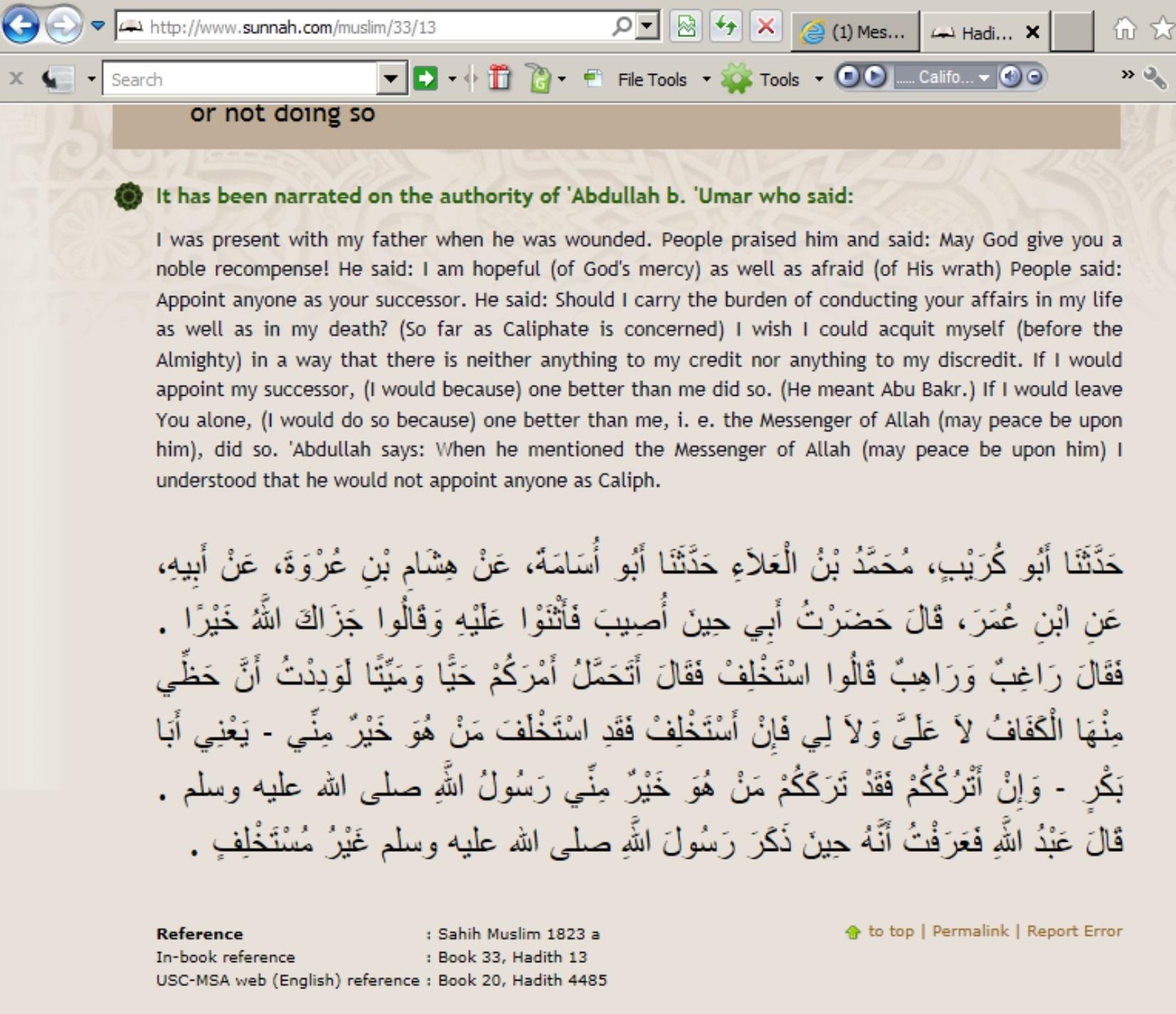 Abu Bakar not an appointed caliph