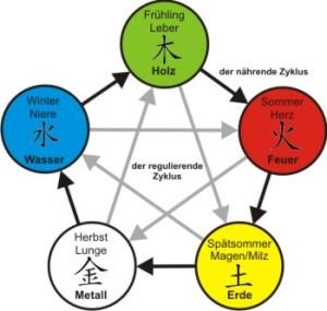 Der nährende Zyklus in den 5 Wandlungsphasen