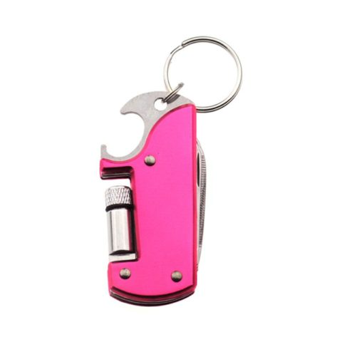 Custom Color 7 In 1 Multi Bottle Opener Keyring with Torch (2)