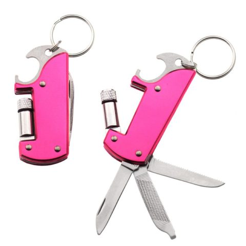Custom Color 7 In 1 Multi Bottle Opener Keyring with Torch (4)