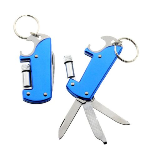 Custom Color 7 In 1 Multi Bottle Opener Keyring with Torch (6)