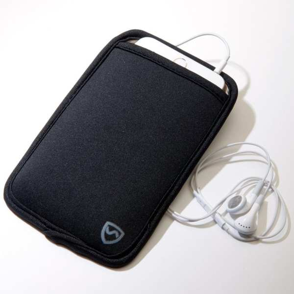 Extra Large Black SYB Phone Pouch to Shield Cell Phone EMF Radiation
