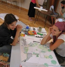 Permaculture Students Designing