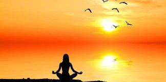 meditating woman