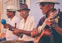 men playing ethnic music