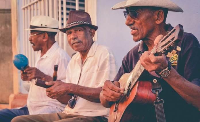 men playing ethnic music
