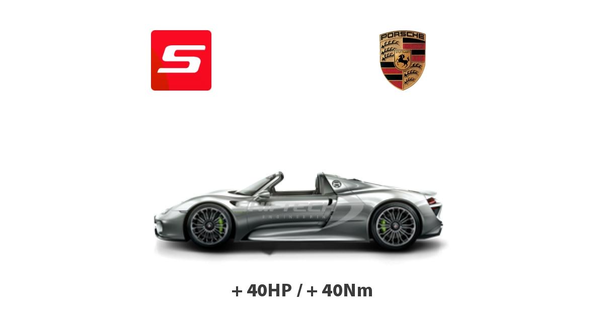 Chiptuning Porsche 918 Spyder 2013 4.6i Hybride 887HP Tours