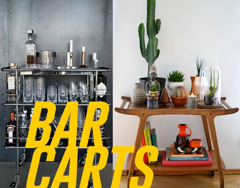Bar carts to die for