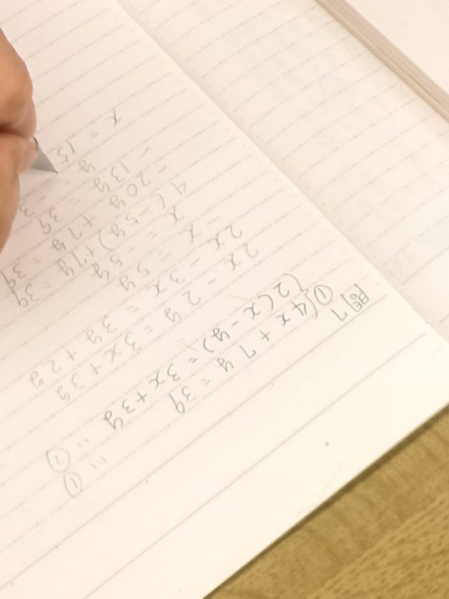 初めての連立方程式。