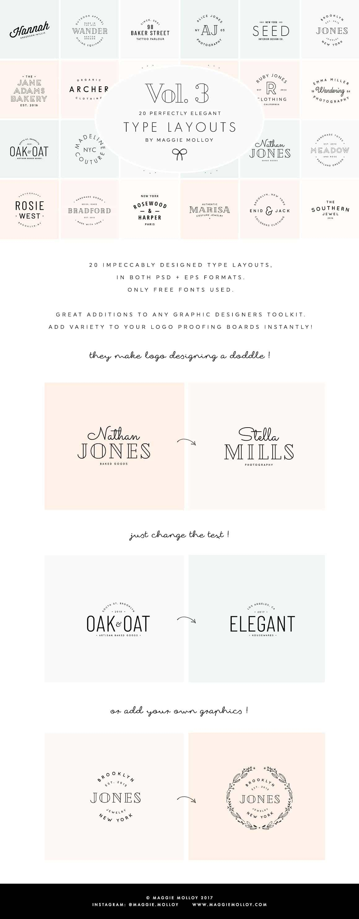 Typography Logo Design Ideas Inspiration - Maggie Molloy