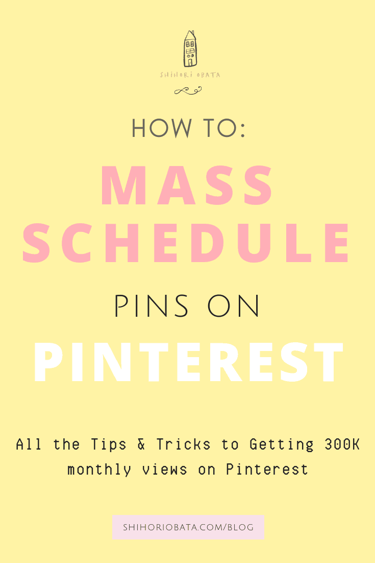 How to Mass Schedule Pins on Pinterest using Tailwind
