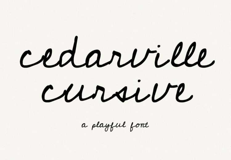 Cedarville Cursive Free Handwriting Font