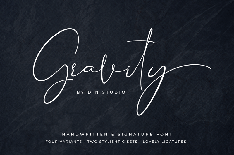 Free Handwriting Cursive Font - Gravity