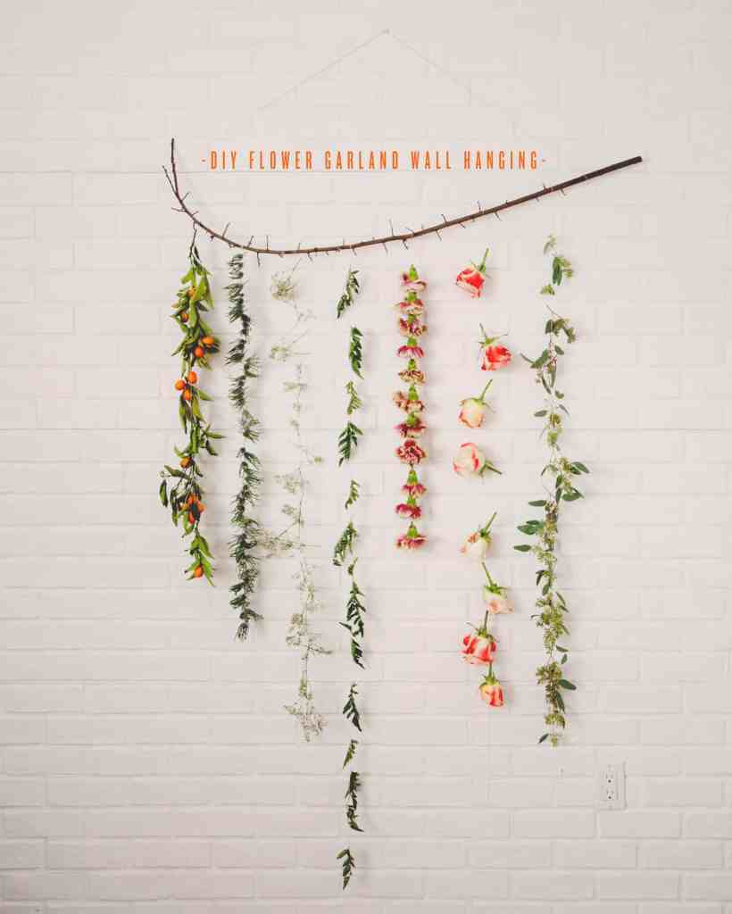 Craft Ideas to Make and Sell - DIY Flower Garland Wall Hanging