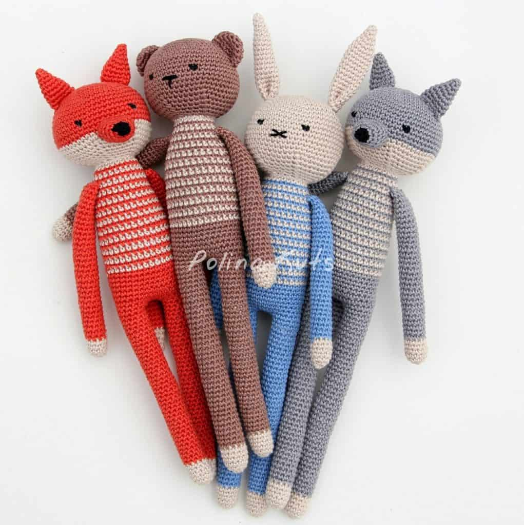 Free Crochet DIY Pattern Animal Toys