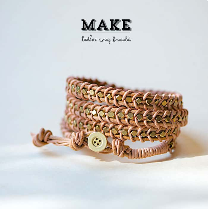 DIY Leather Wrap Bracelet - Things to make and sell