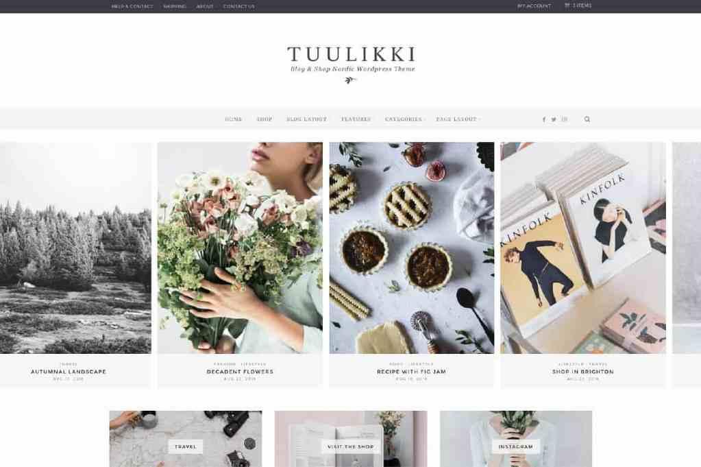 Tuulikki WordPress Theme Nordic