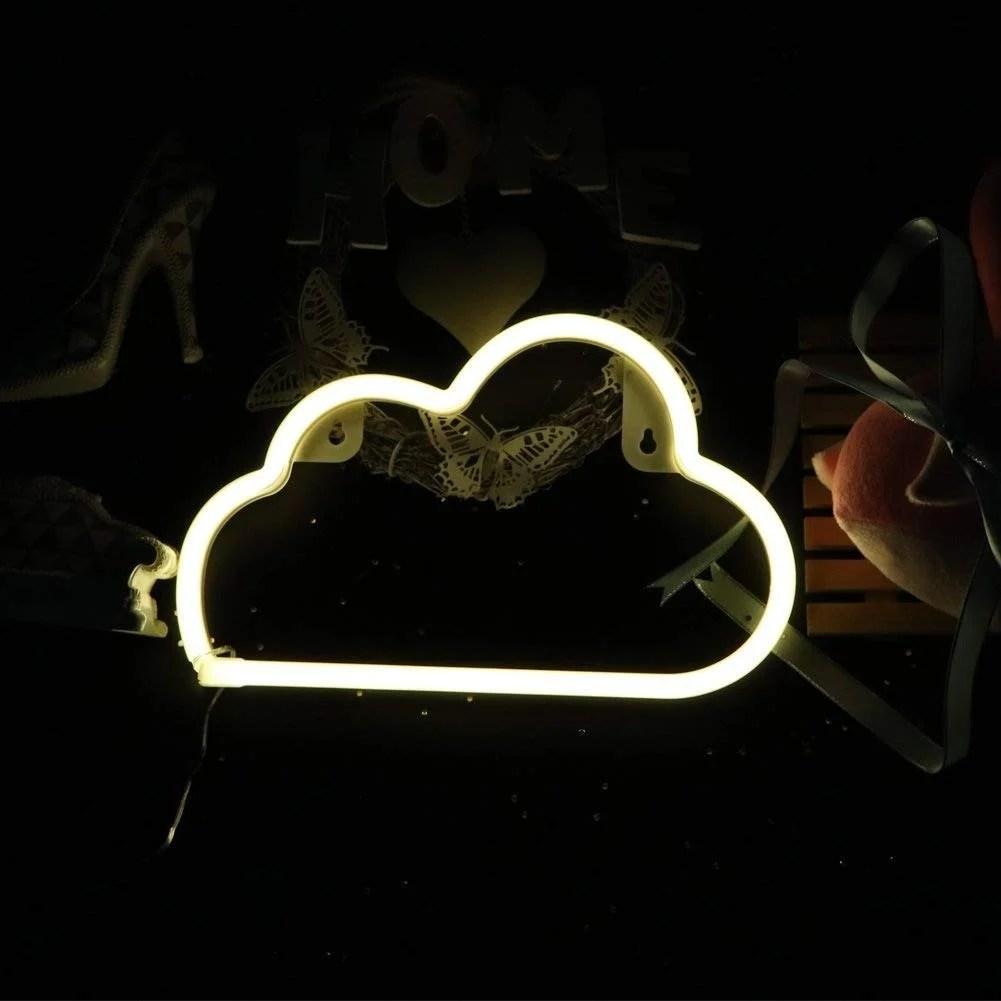 Neon Light Cloud - Home Decor Ideas from Amazon