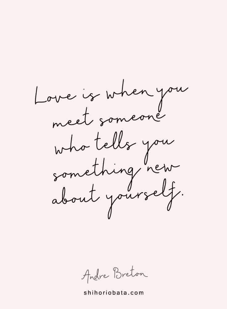 love is when you meet someone who tells you