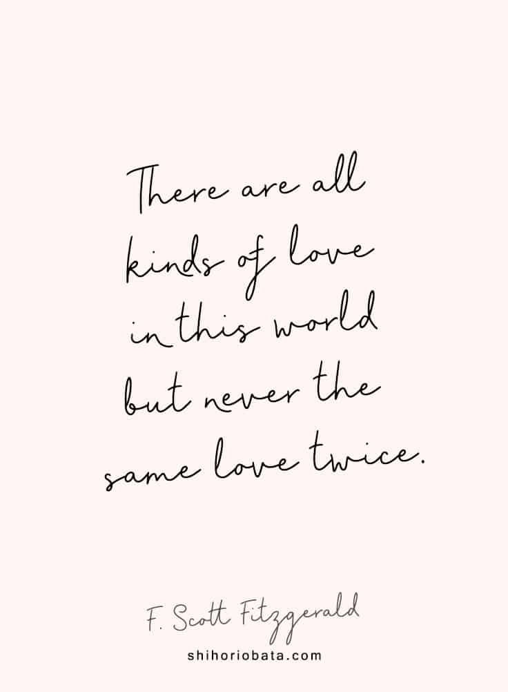 there are all kinds of love in this world