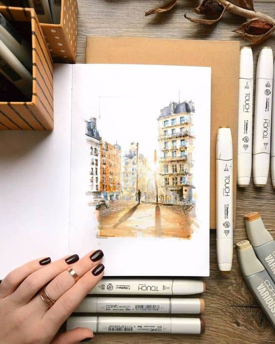 Amazing Drawing of Places - Paris