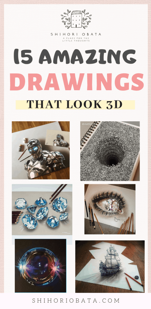 15 Amazing Drawings that Look 3D #art #drawing