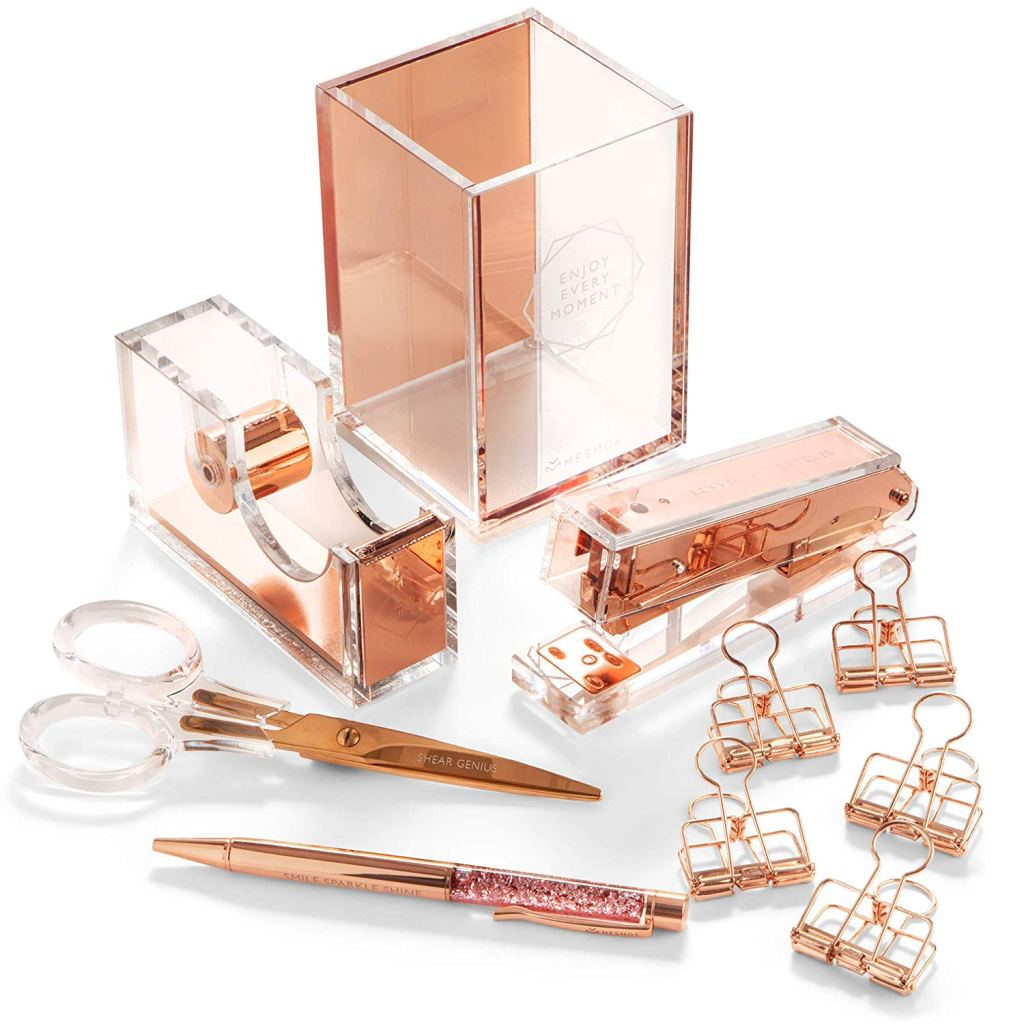 Rose Gold Desk Accessories