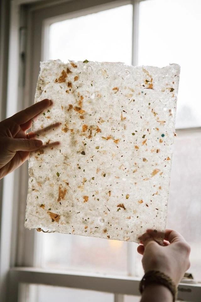 Handmade Flower Paper DIY