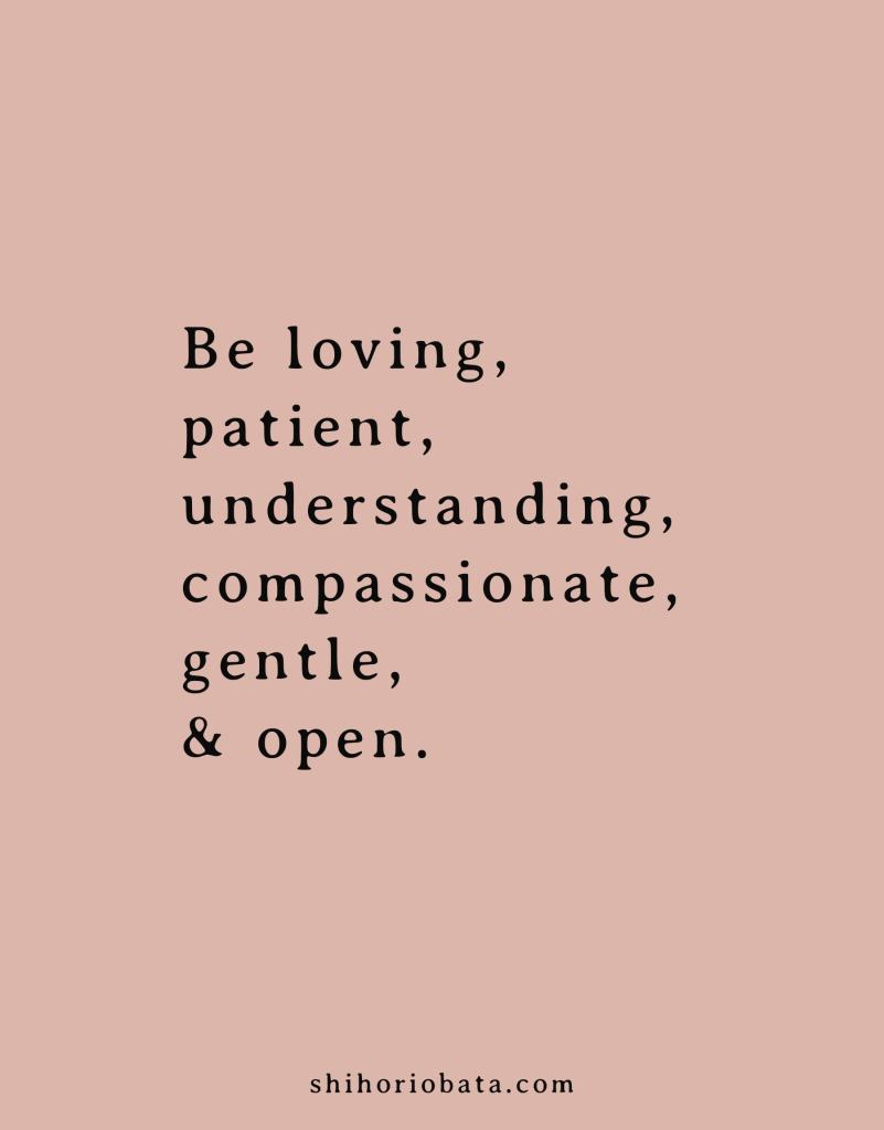 Be loving quote