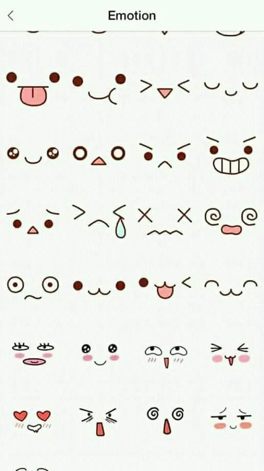 Cute Easy Faces to Doodle