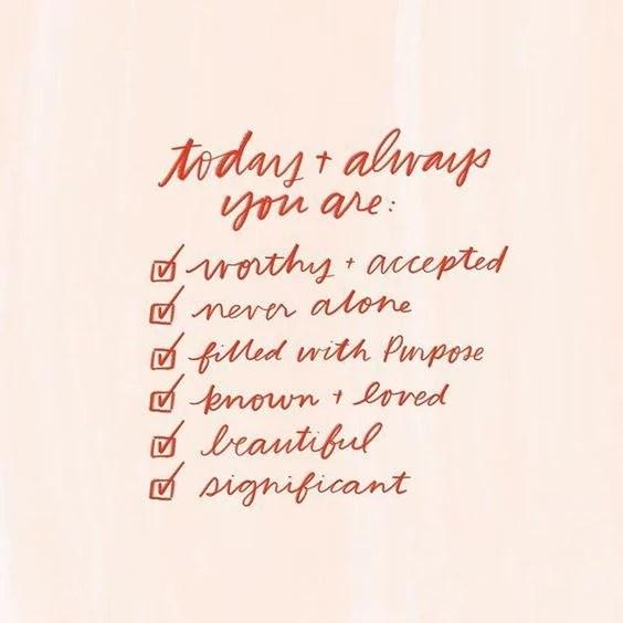 Inspirational Checklist Idea