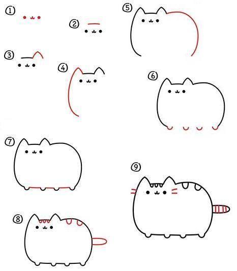 Pusheen Animal Cat Drawing idea