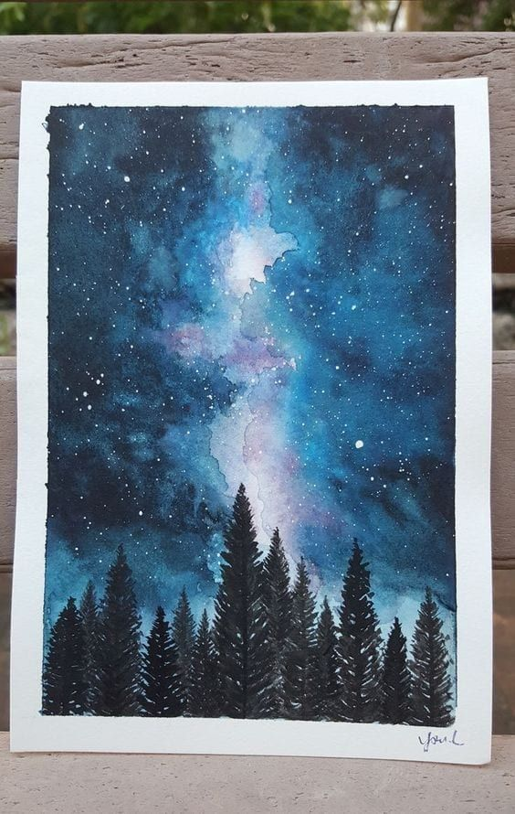 Easy Simple Watercolor Art Painting