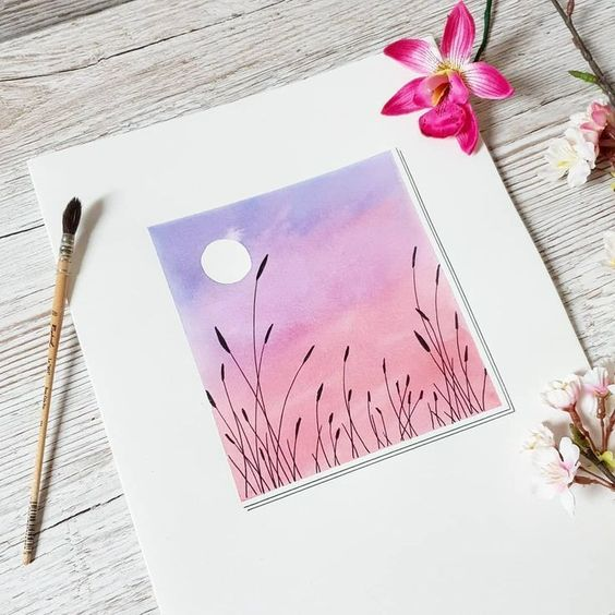 Easy Simple Watercolor Art