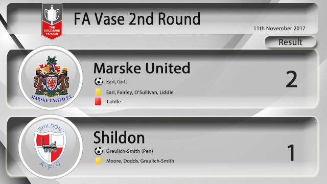 Fa Vase 2nd Round Result Marske United 2 Shildon 1 Aet