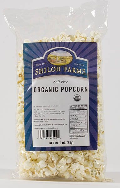 Shiloh Farms No Salt Popcorn
