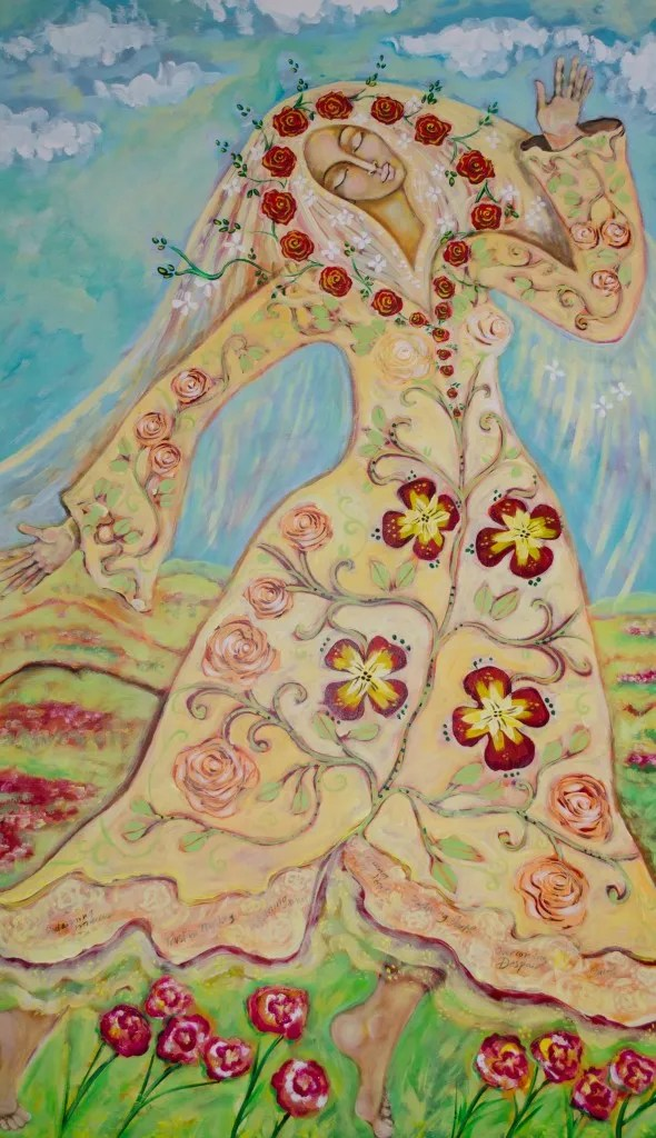 Our Lady of the Flowering Earth Painting