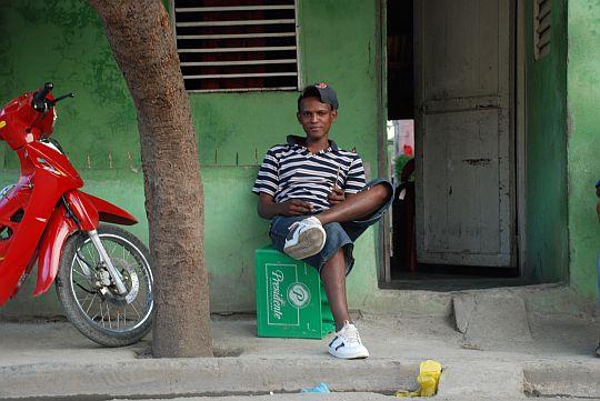 ここがカクーの定位置だった。ドミニカ共和国バニにて