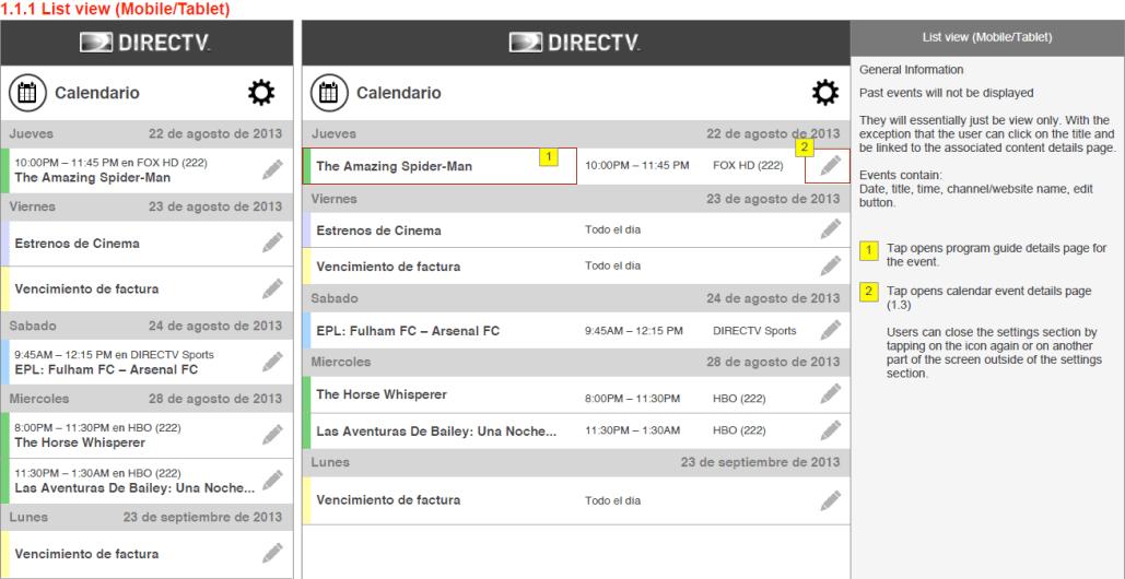 DIRECTV Calendar Charles Shimooka - Online invoice dtv