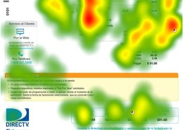 DIRECTV Invoice Redesign - Heat Map