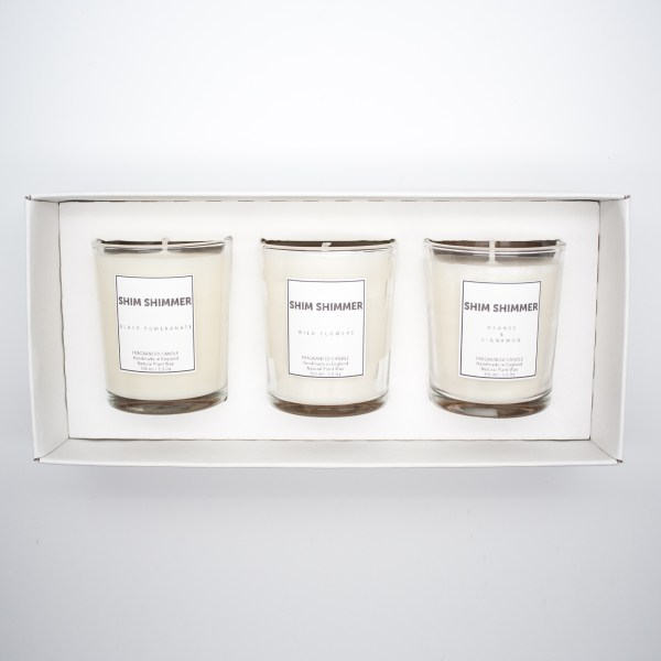 candle gift set shim shimmer luxury gifts and candles