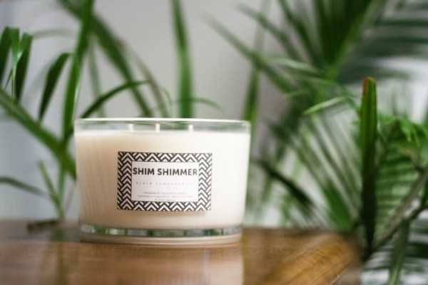 3 wick candle shim shimmer shimshimmer luxury scented fragranced candles reed diffusers organic soap room sprays milk bottles milk puddings designer luxury gift sets